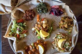traditional ethiopian meal with injera t20 29ZZVV