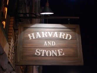 Harvard Stone Sign