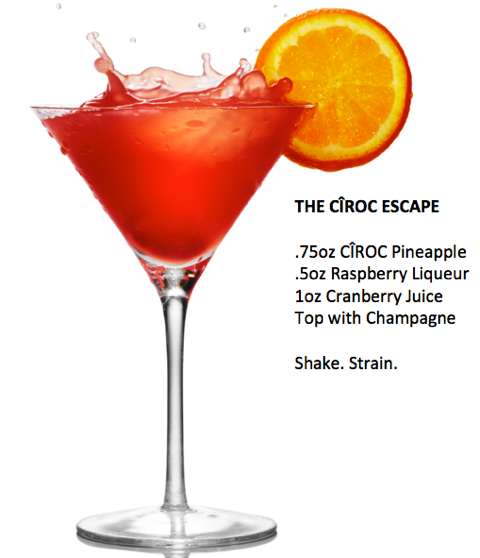 THE CÎROC ESCAPE with Recipe