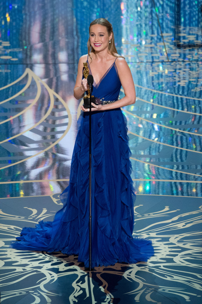 """Brie Larson accepts the Oscar® for Performance by an actress in a leading role, for work on """"Room"""""""