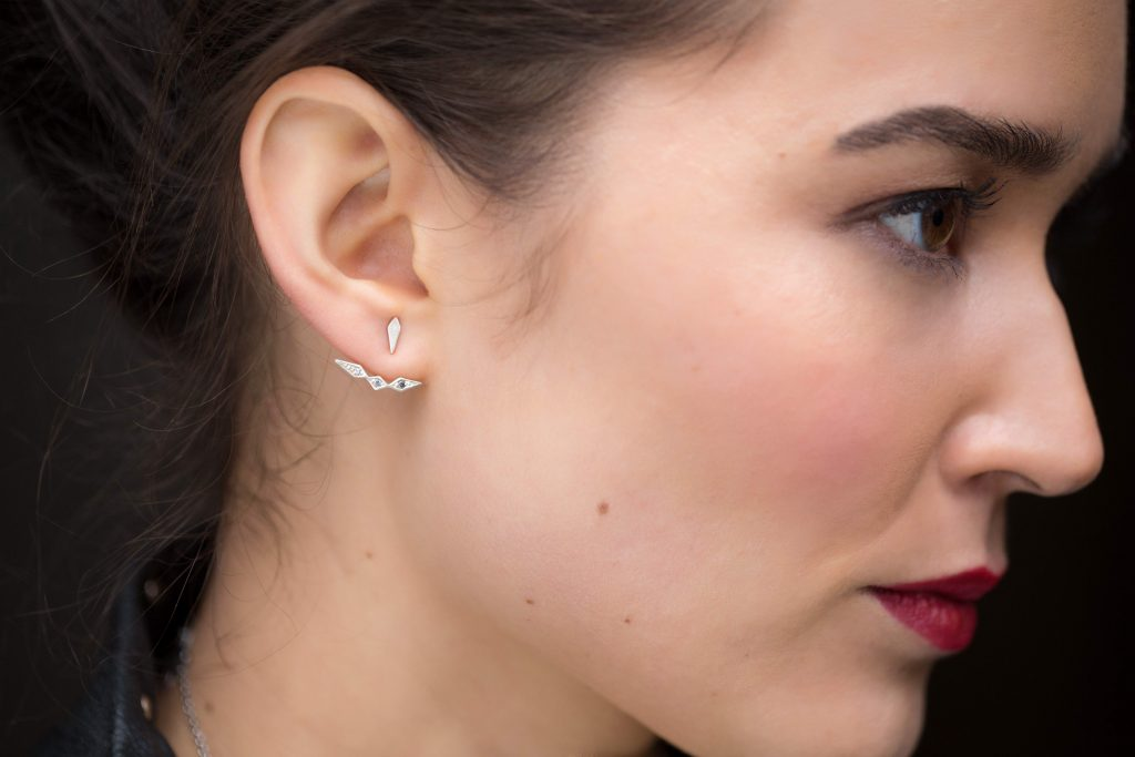 Inez ear-jacket earrings