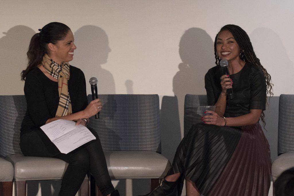 Soledad OBrien interviews Logan Browning during PowHERful LA 2016