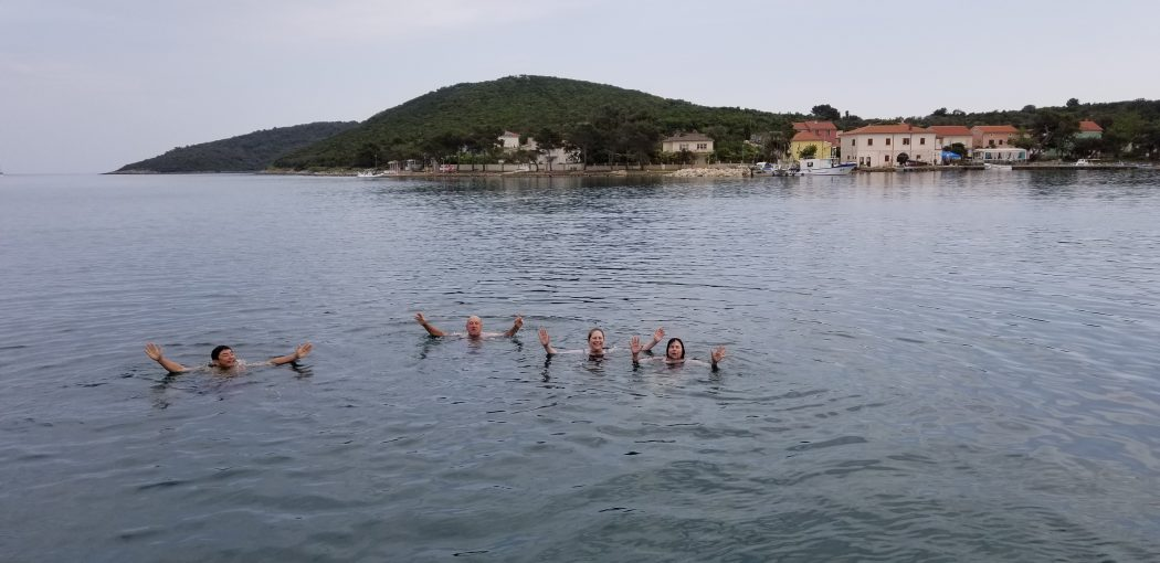 Swimming in the Adriatic between Zadar and Mali Losinj 66 degrees 24
