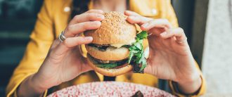 vegetarians eating meat hero