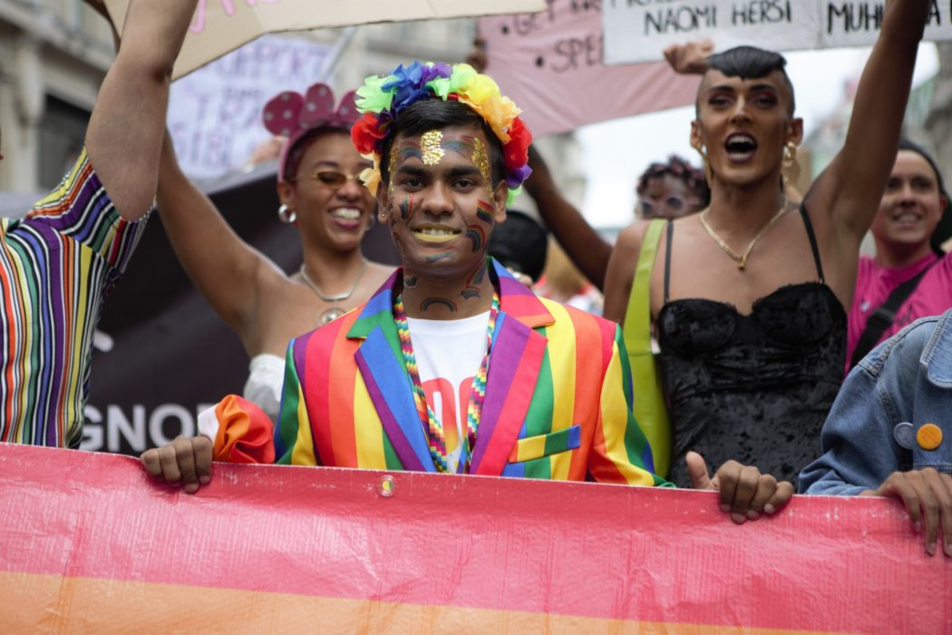 nominated london pride parade hundreds of thousands people took to the streets in central london to t20 3Q6QW9