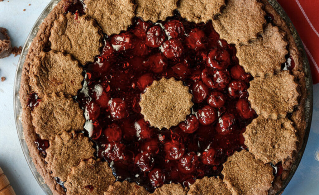 Chocolate Pie With Cherry Filling