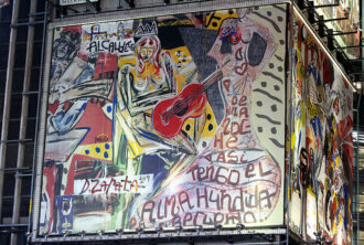 Artist Domingo Zapata Makes History In Times Square